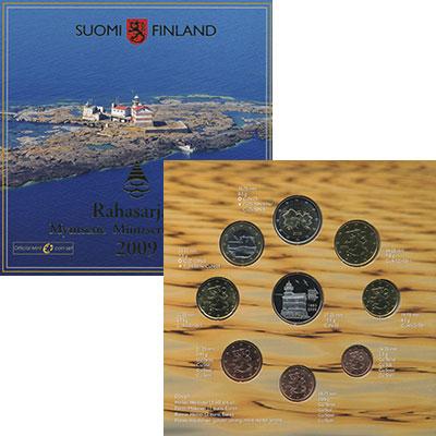 Изображение Подарочные монеты Финляндия Евронабор 2009 года 2009  UNC В набор входит восем