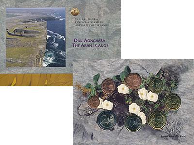 Изображение Подарочные монеты Ирландия Евронабор 2007 года 2007  UNC В набор входит восем