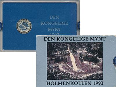 Изображение Подарочные монеты Норвегия Холменколен 1993 1993 Серебро Proof- Памятный жетон  посв