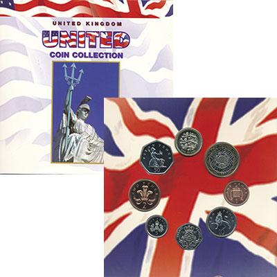 Изображение Подарочные монеты Великобритания Набор 1998 года 1997  UNC Набор из 8 монет от