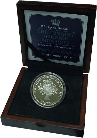 Набор монет Остров Джерси 5 фунтов Серебро 2015 Proof