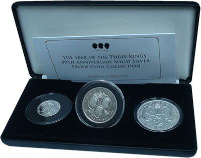 Изображение Подарочные монеты Тристан-да-Кунья Год трёх королей 2016 Серебро Proof В набор входят три м