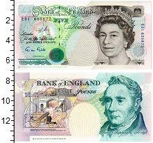 Банкнота Великобритания 5 фунтов 1990 UNC