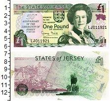 Банкнота Остров Джерси 1 фунт 1995 UNC фото