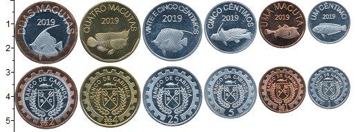 Изображение Наборы монет Кабинда Набор 2019 года 2019  UNC Набор 2019 года из 6