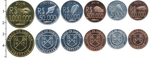 Изображение Наборы монет Кабинда Набор 2016 года 2016  UNC Набор 2018 года из 6