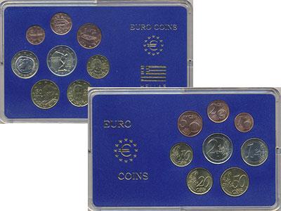 Изображение Подарочные монеты Греция Набор 2004 года 2004  UNC Набор из 8 монет от
