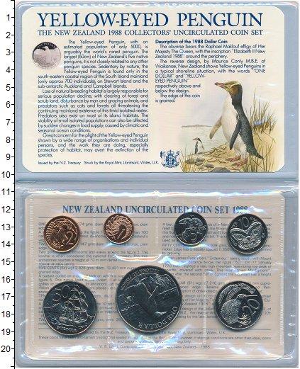 Изображение Подарочные монеты Новая Зеландия Набор 1988 года 1988  UNC Набор из 7 монет от