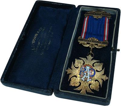 Изображение Подарочные монеты Великобритания Медаль 1960 Позолота XF Масонская медаль. Ор