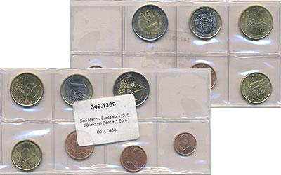 Изображение Наборы монет Сан-Марино Сан-Марино 2003-2012 0  UNC- В наборе 7 монет ном