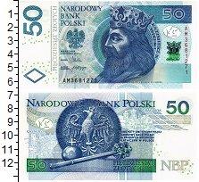 Банкнота Польша 50 злотых 2012 UNC