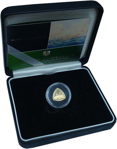 Изображение Подарочные монеты Бермудские острова 3 доллара 2006 Золото Proof- Мария Целеста. Вес 1