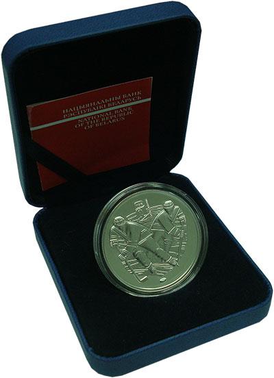 Изображение Подарочные монеты Беларусь 20 рублей 2013 Серебро Proof Чемпионат Мира по хо