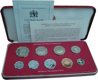Изображение Подарочные монеты Мальта Набор 1980 года 1980  Proof Набор посвящен монет