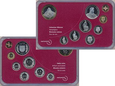 Изображение Подарочные монеты Швейцария Набор 2004 года 2004  Proof В набор входят 9 мон