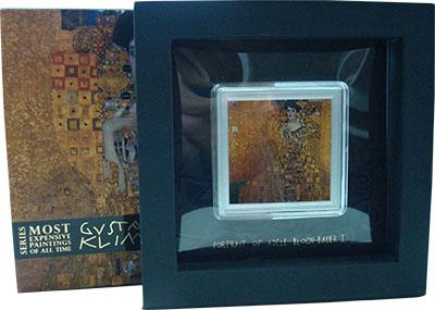 Изображение Подарочные монеты Ниуэ 2 доллара 2015 Серебро Proof `Густав Климт. ``Пор
