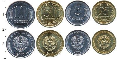 Изображение Наборы монет Приднестровье Набор 2019 года 2019  UNC Набор из 4 монет от