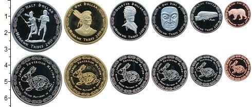 Изображение Наборы монет Резервация Хамул Индейцы Набор 2019  года 2019  UNC UNUSUAL. Индейцы Аме