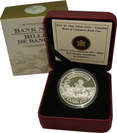 Изображение Подарочные монеты Канада 5 долларов 2013 Серебро Proof `Серия ``Банкноты``