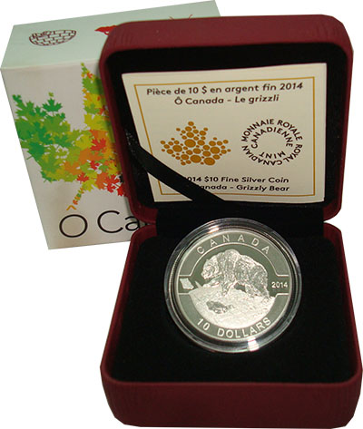 Изображение Подарочные монеты Канада 10 долларов 2014 Серебро Proof `Серия ``О Канада!``