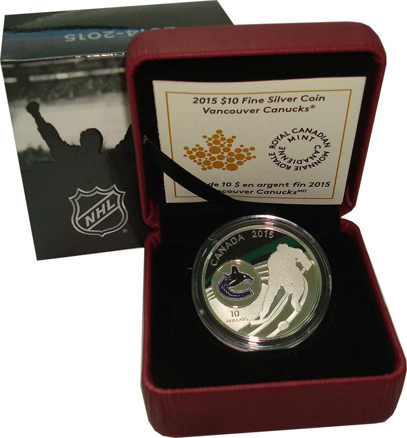 Изображение Подарочные монеты Канада 10 долларов 2015 Серебро Proof `Серия ``Клубы НХЛ``