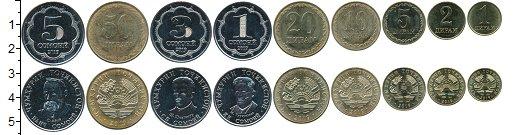 Изображение Наборы монет Таджикистан Набор 2019 года 2019 Медно-никель UNC- В наборе 9 монет ном