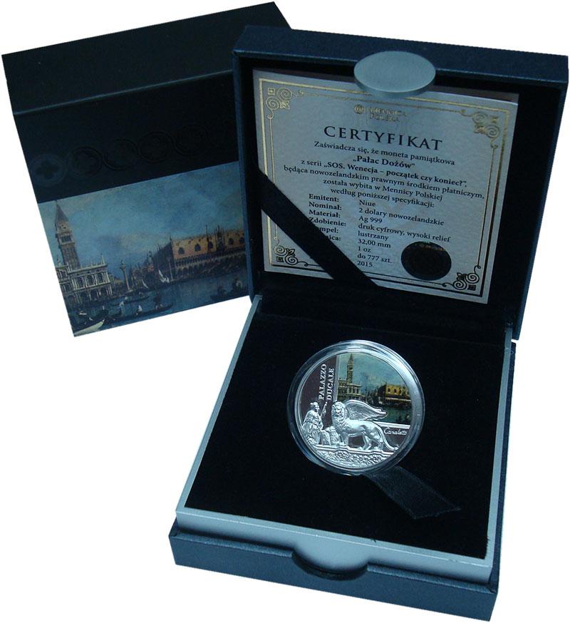 Изображение Подарочные монеты Ниуэ 2 доллара 2016 Серебро Proof Венеция- начало или