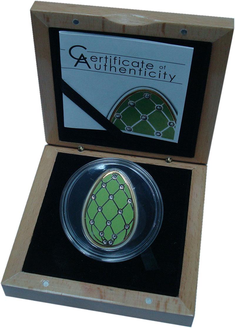 Изображение Подарочные монеты Острова Кука 5 долларов 2015 Серебро Proof Императорское яйцо-Б