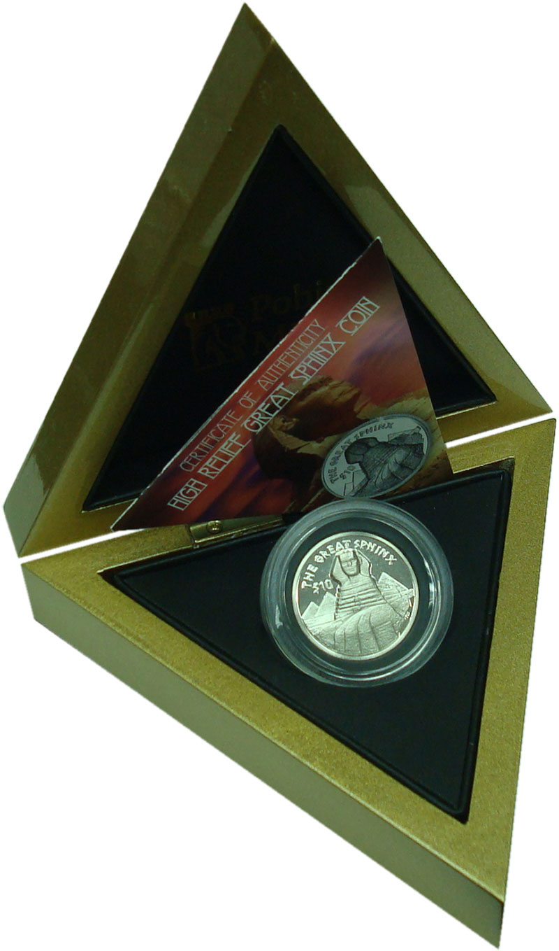 Изображение Подарочные монеты Виргинские острова 10 долларов 2015 Серебро Proof Сфинкс. Тираж 1999 ш