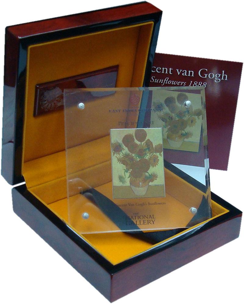 Изображение Подарочные монеты Ниуэ 5 долларов 2014 Серебро Proof Винсент Ван Гог, Под