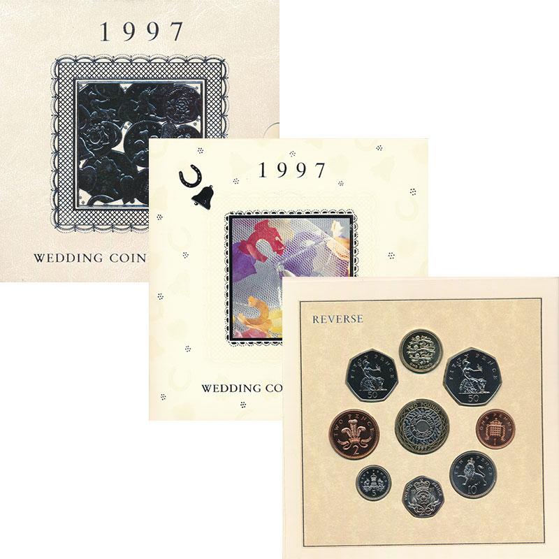 Изображение Подарочные монеты Великобритания Выпуск 1997 года 1997  UNC Набор из 8 монет от