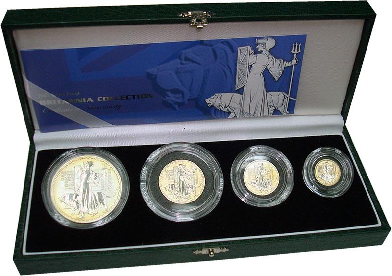 Изображение Подарочные монеты Великобритания Британия 2001 Серебро Proof- В набор входят четыр