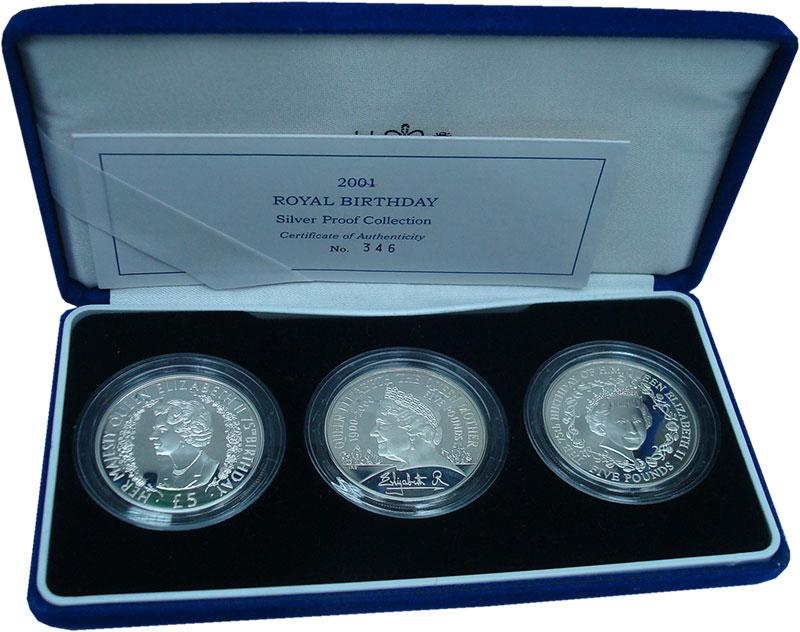 Набор монет Великобритания Королевский день рождения Серебро 2001 Proof