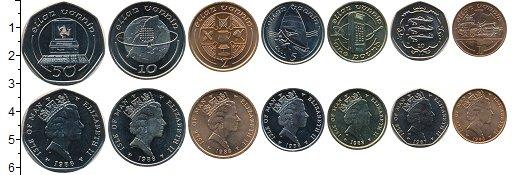 Изображение Наборы монет Остров Мэн Номинал ? 1988  UNC В наборе 7 монет ном