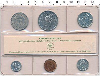 Изображение Наборы монет Швеция Набор 1976 года 1976  UNC Набор монет от 5 оре
