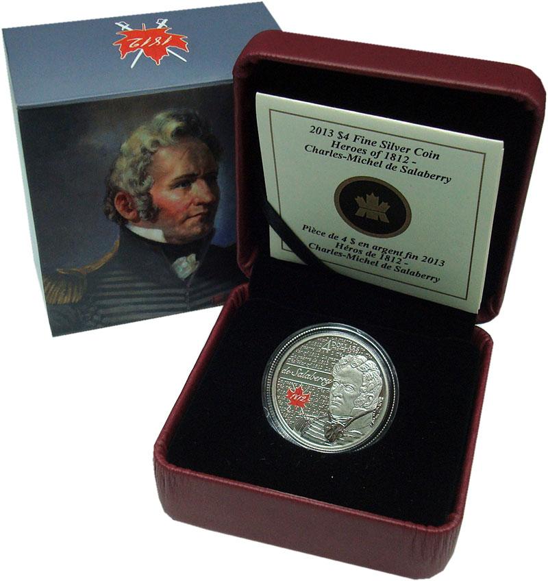 Изображение Подарочные монеты Канада 4 доллара 2013 Серебро Proof Герои 1812 года - Ша