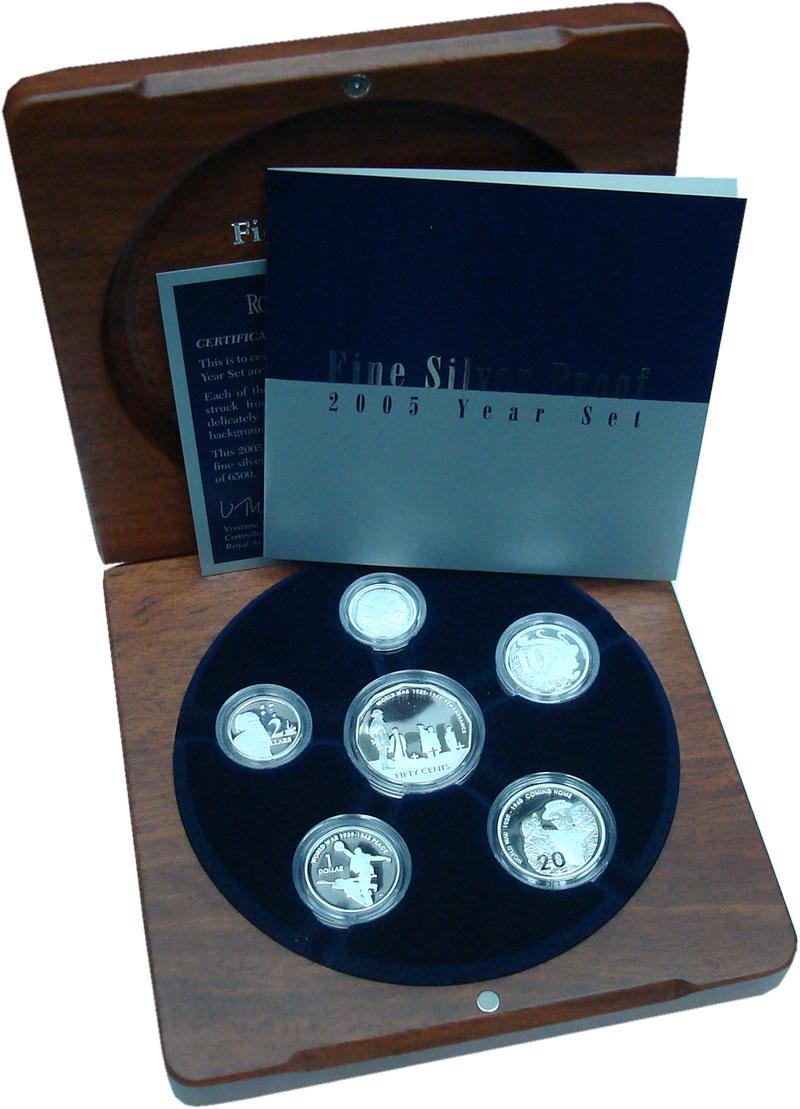 Изображение Подарочные монеты Австралия Набор 2005 года Пруф серебро 2005 Серебро Proof В набор входят шесть