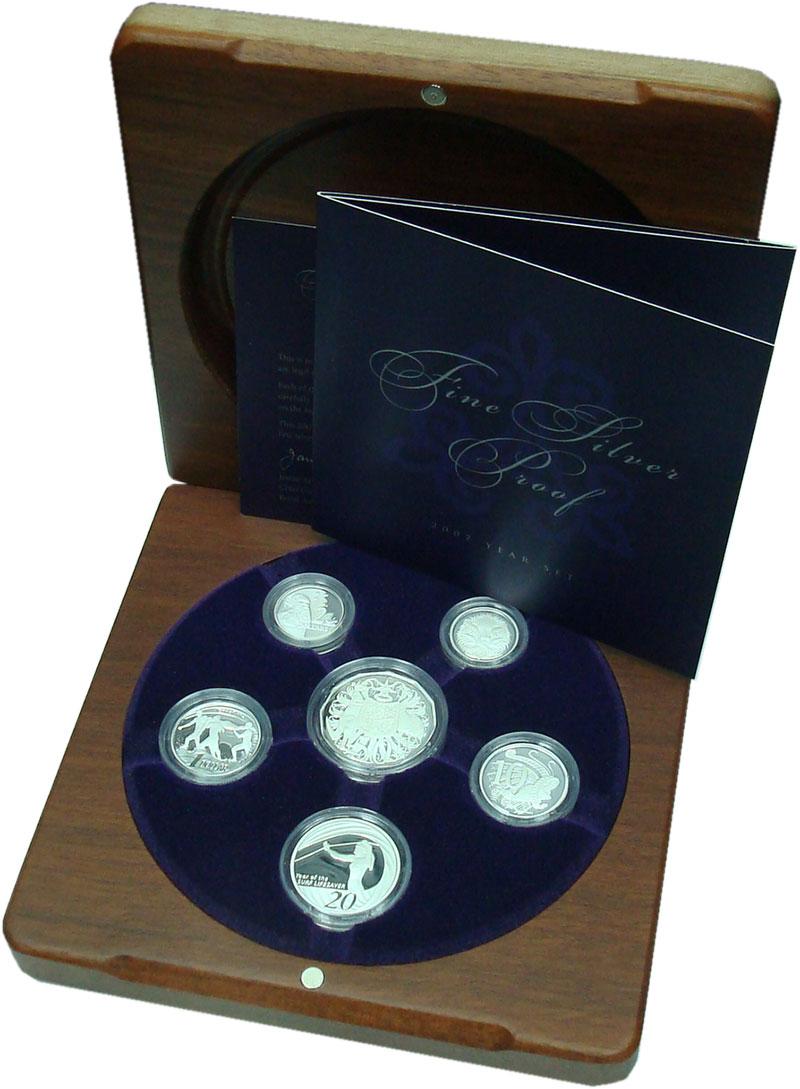 Изображение Подарочные монеты Австралия Набор 2007 года Пруф серебро 2007 Серебро Proof В набор входят шесть