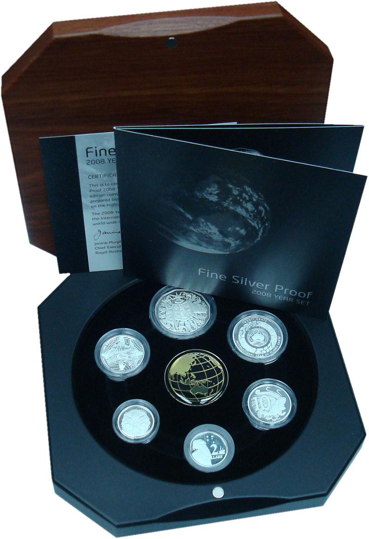 Изображение Подарочные монеты Австралия Набор 2008 года Пруф серебро 2008 Серебро Proof В набор входят шесть