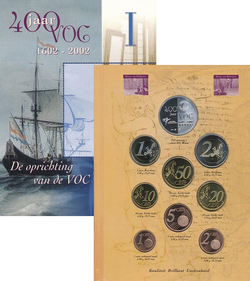 Изображение Подарочные монеты Нидерланды Набор 2002 года 2002  UNC В набор входят8 моне