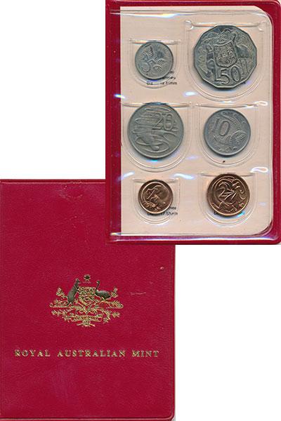 Изображение Подарочные монеты Австралия Набор 1983 года 1983  UNC В набор входят 6 мон
