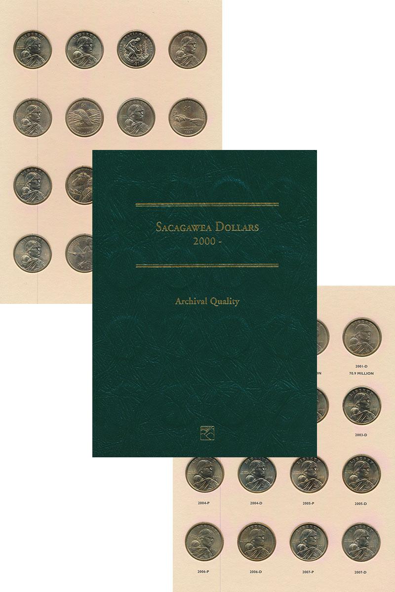 Изображение Подарочные монеты США Сакагавея 0 Латунь UNC Набор из 32 монет по