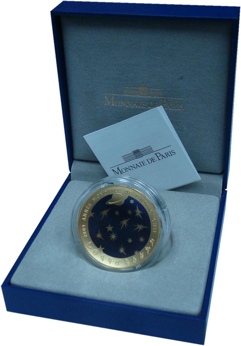 Изображение Подарочные монеты Франция 200 евро 2009 Золото Proof 40 лет Высадке на Лу