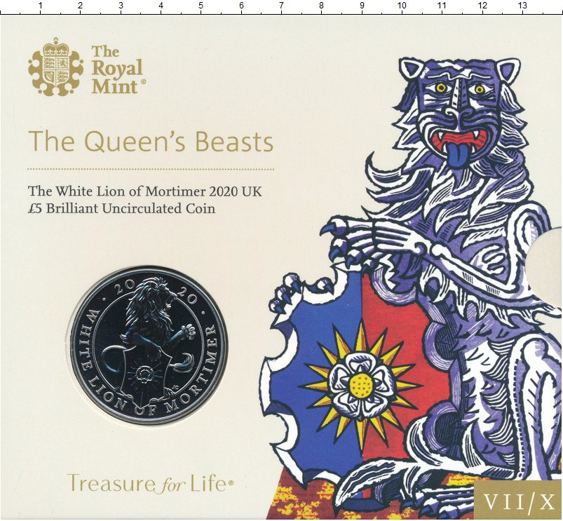 Изображение Подарочные монеты Великобритания 5 фунтов 2020 Медно-никель BUNC Седьмая монета из се