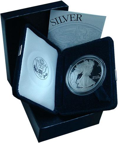Изображение Подарочные монеты США 1 доллар 1994 Серебро Proof Американский орёл. С