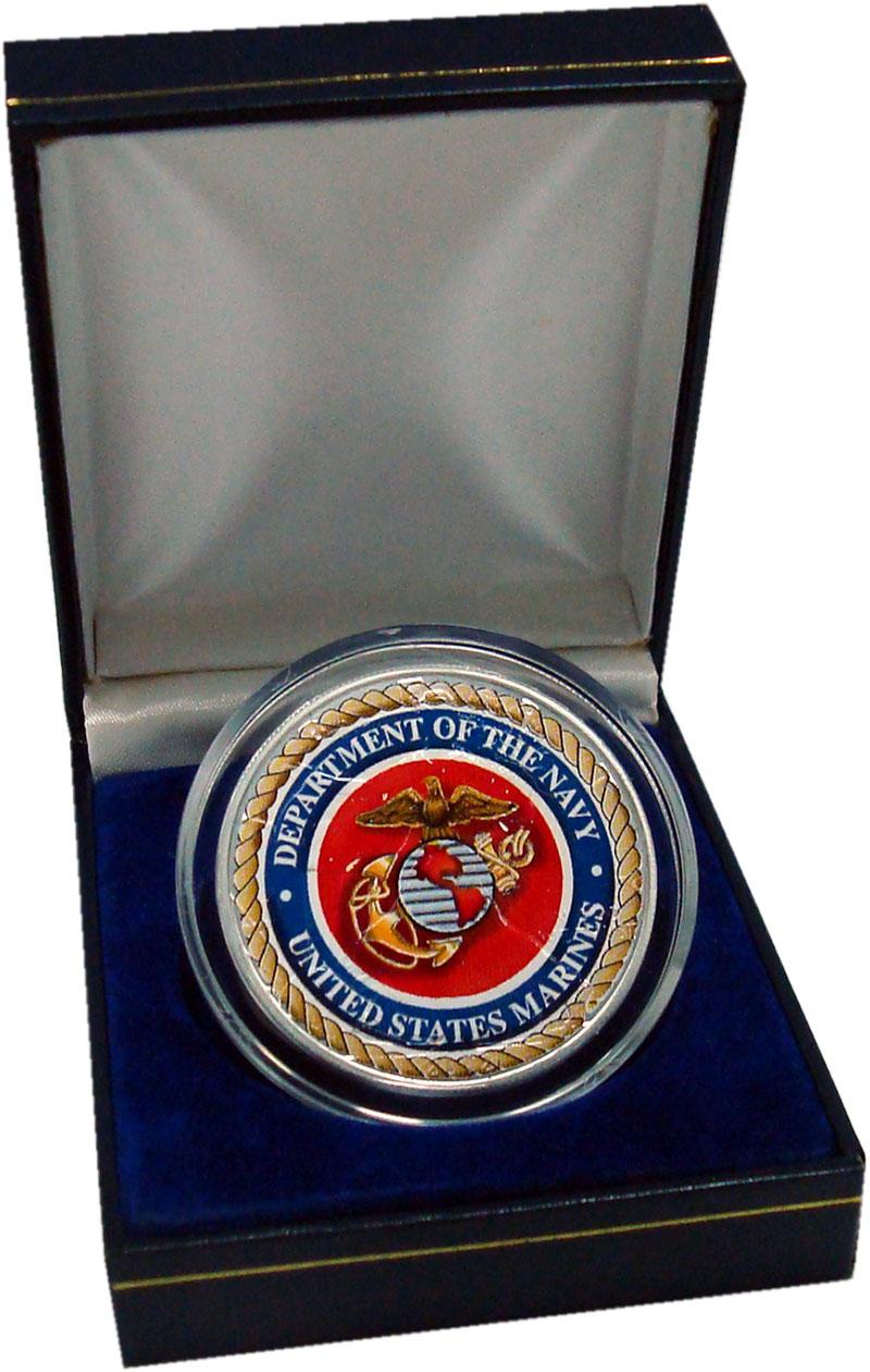 Изображение Подарочные монеты США Жетон 0 Серебро UNC Департамент военно-м