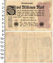 Банкнота Веймарская республика 2000000 марок 1923 XF