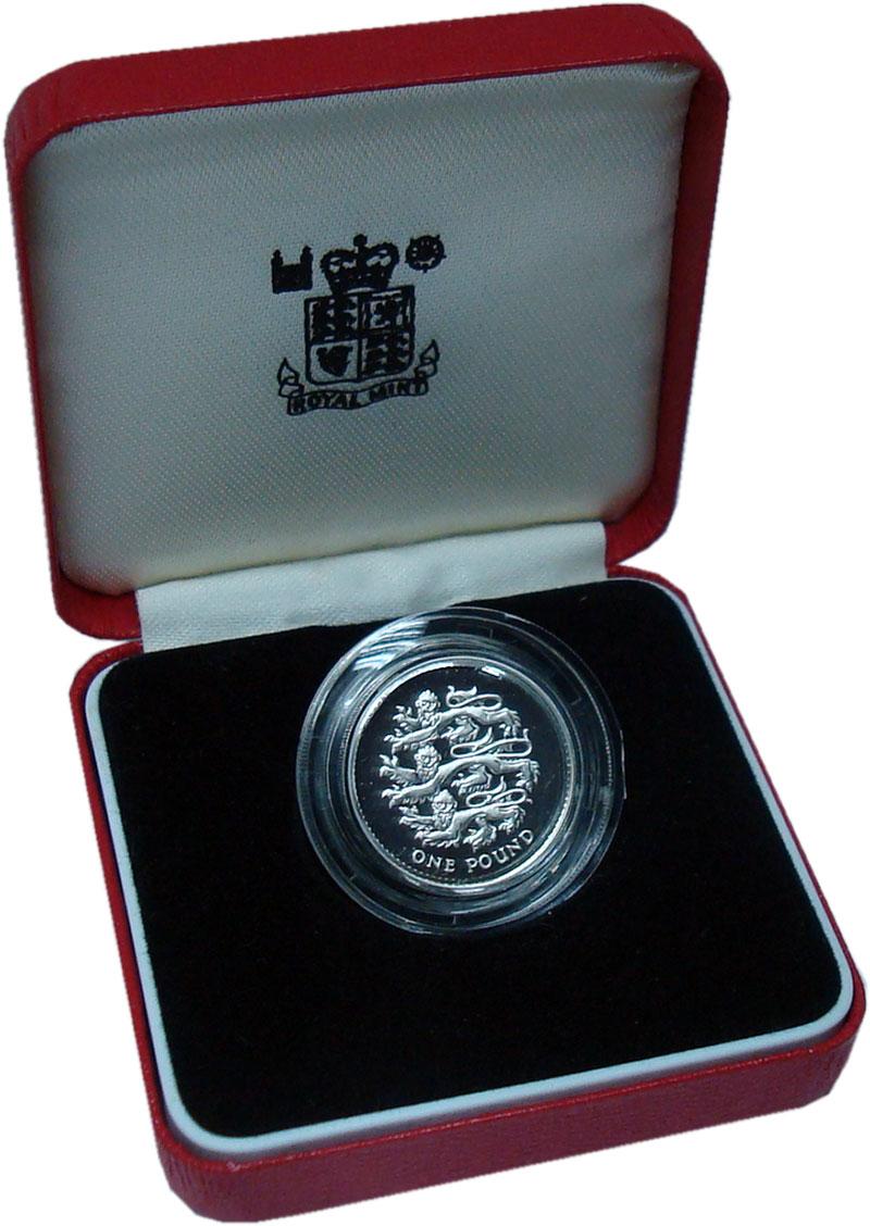 Изображение Подарочные монеты Великобритания 1 фунт 1997 Серебро Proof Львы Плантагенетов.