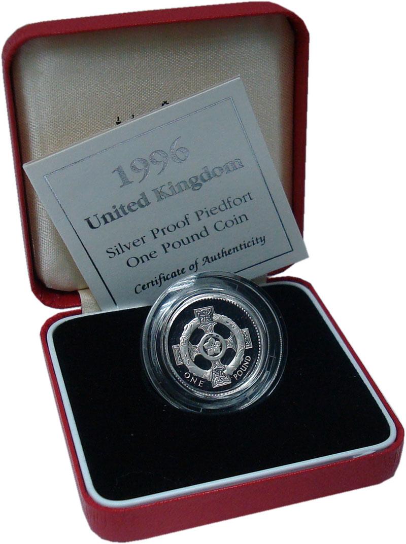 Изображение Подарочные монеты Великобритания 1 фунт 1996 Серебро Proof Шотландский крест. П