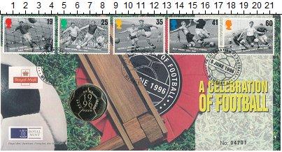 Изображение Подарочные монеты Великобритания 2 фунта 1996 Латунь UNC Монета номиналом 2 ф